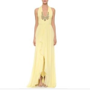 Marchesa Notte Yellow Gown Dress - Size 12